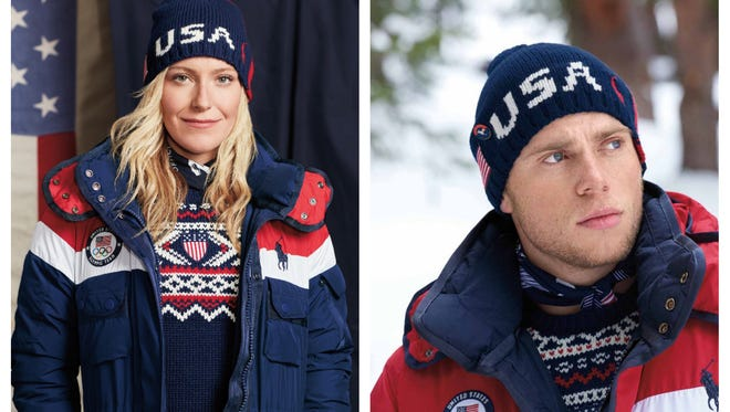 Men's and Women's Opening Ceremony uniforms for 2018 Winter Olympics in Pyeongchang, Korea, by Ralph Lauren