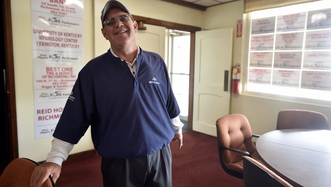 Doug Kuntz is hosting the Pro's Players Fore Parkinson's charity golf event at Elk's Country Club and Forest Hills Country Club Saturday and Sunday April 29-30th. Doug Kuntz poses Friday, April 21, 2017, at Elks Country Club where he is the PGA professional.