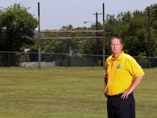 Texas Wesleyan head coach Joe Prud'homme poses for