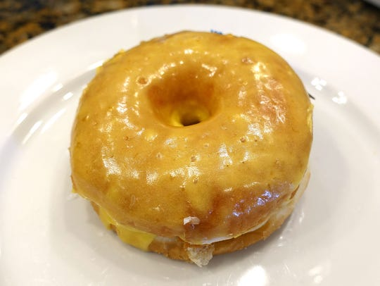 Lemon glazed donut from The Original Rainbow Donuts