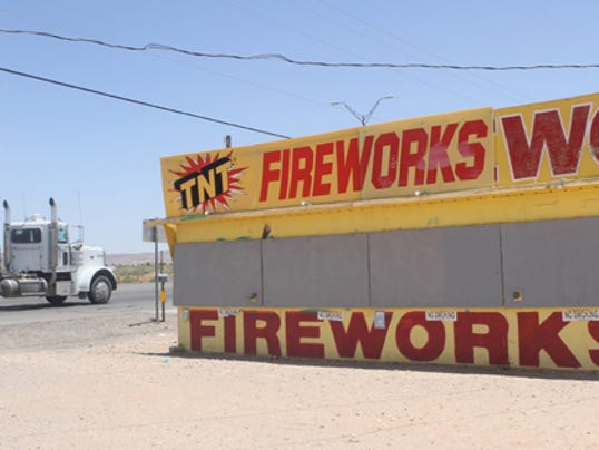 A fireworks stand in the Montana Vista area.