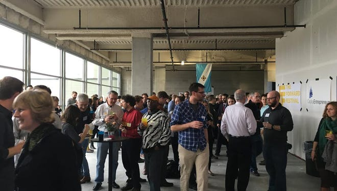 Participants mingle at the Capital Entrepreneurs Spring Tech Kickoff in April in Madison
