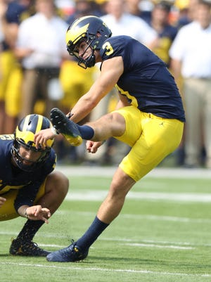 Quinn Nordin had several notable misses in his first season of kicking for Michigan.