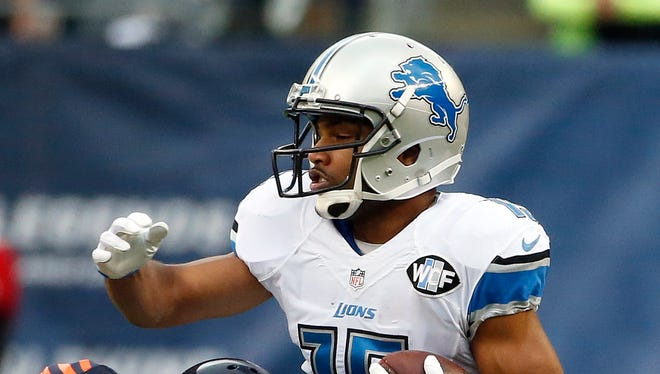 Detroit Lions wide receiver Golden Tate (15).