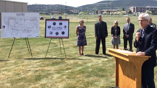 Lt. Gov. Mike Cooney on Wednesday discusses Montana's long-range planning survey on transportation needs.