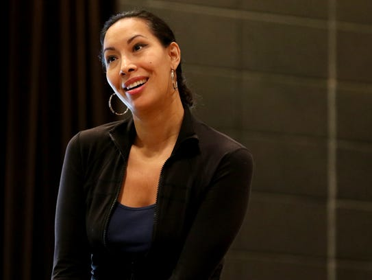 """Nicole Cabell portrays """"Mimi"""" during a rehearsal for"""