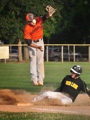 Northeastern third baseman Devon Blymire can't flag