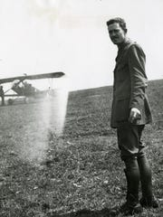 Kiffin Rockwell, here at the airfield in France, was