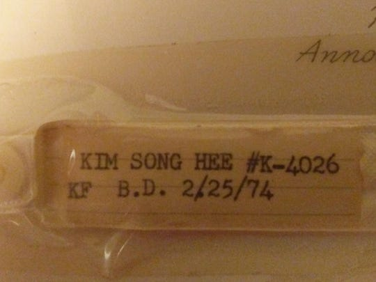This bracelet was on Kristin Meekhof's wrist coming from South Korea to the United States.