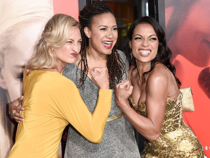 Fists were clenched at the 'Unforgettable' premiere