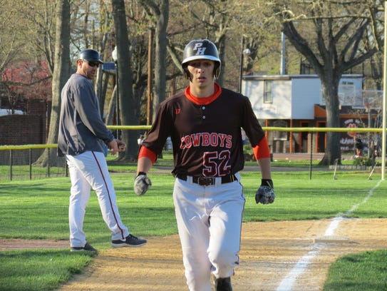 Pascack Hills' Christian Piantino heads home after