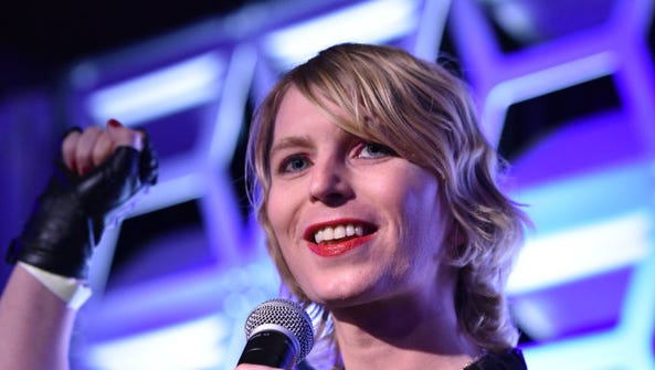 Newsmaker of the Year Chelsea Manning speaks on stage