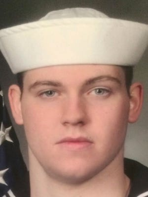 This undated photo released by the U.S. Navy, Monday, June 19, 2017, shows Gunner's Mate Seaman Dakota Kyle Rigsby, 19, from Palmyra, Virginia. Rigsby is one of the seven sailors who died in a collision between the USS Fitzgerald and a container ship off Japan on Saturday, June 17, 2017.