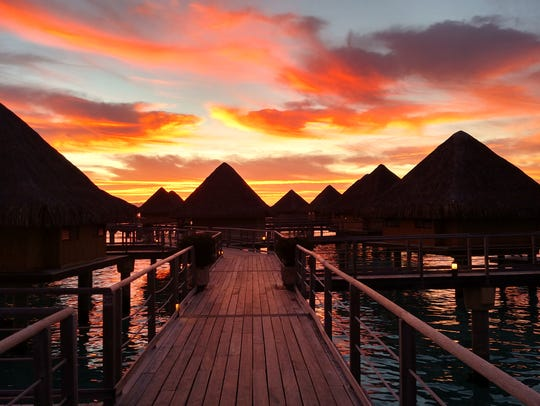 The Fesenmaiers' sunset one night last month.
