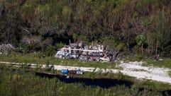 Aerial view just outside of Everglades City on Saturday,