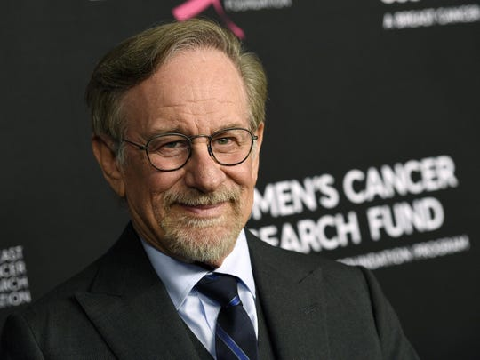 """FILE - In this Thursday, Feb. 28, 2019, file photo, filmmaker Steven Spielberg poses at the 2019 """"An Unforgettable Evening"""" benefiting the Women's Cancer Research Fund, at the Beverly Wilshire Hotel, in Beverly Hills, Calif. Reports that Spielberg intends to support rule changes that could block Netflix from Oscars-eligibility have provoked a heated and unwieldy online debate. (Photo by Chris Pizzello/Invision/AP, File)"""