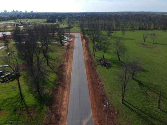 A new road is being built to Tinsley Park in Bossier.