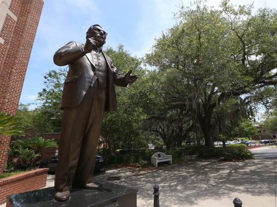 The Claude Pepper Statue on the FSU Campus. The Osher Lifelong Learning Institute is associated with the Pepper Institute on Aging and Public Policy and receive funding through membership dues, class fees, private donations and funding from the Bernard Osher Foundation.