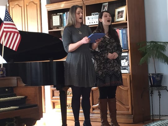 Laura Logan and her daughter, Alex, provided part of the musical theater program for a recent Harmony Club of Abilene meeting.