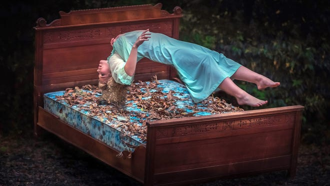 """Image titled """"Bad Dream"""" of model Katie Phillips taken for a demonstration as an instructor at the Conceptual Portrait Masterclass in Dallas, Texas."""