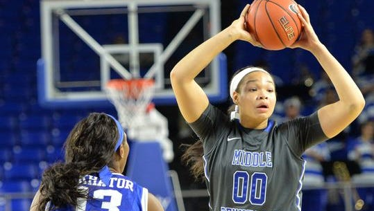 MTSU's Alex Johnson (00) was named Conference USA Freshman of the Year last year.