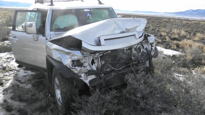 The Toyota FJ Cruiser was one of three vehicles involved in an accident on I-15 Monday afternoon. The Utah Highway Patrol said the holiday traffic played a factor in the collision.