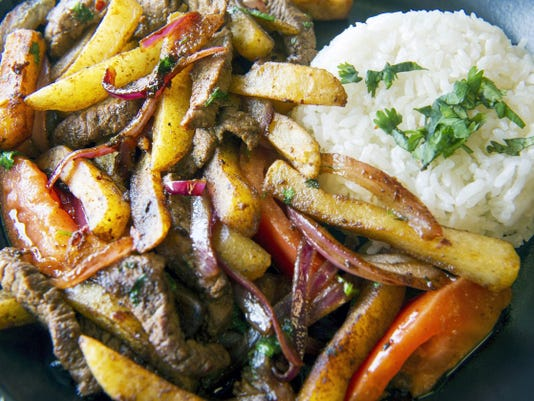 Loma Saltado (sautéed steak) is one of the dishes at Azteca Mexican Grill in Spring Garden Township.