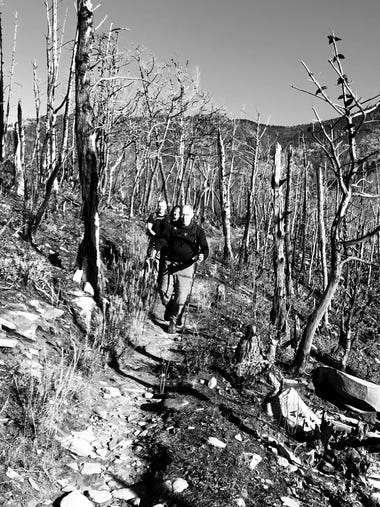 J.D. Schlandt photographed hikers on Bull Head Trail
