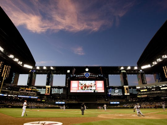 The view from inside Chase Field.