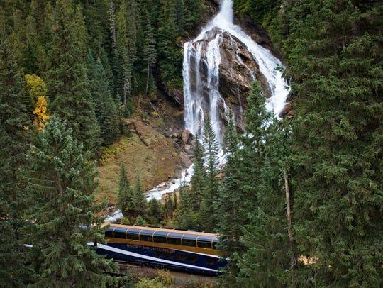 Pyramid Creek Falls, a 300-foot tall waterfall, is
