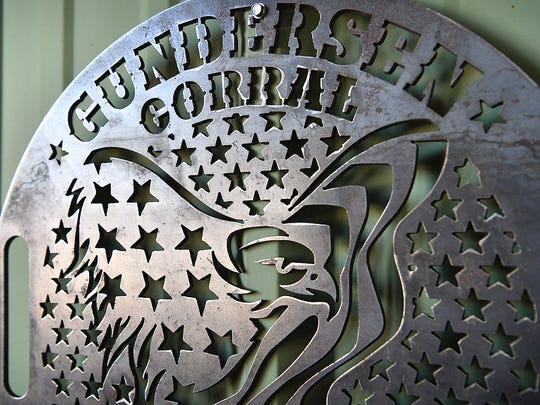 A sample of a custom grill grate design produced at