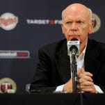 MINNEAPOLIS, MN - SEPTEMBER 29: General Manager Terry Ryan of the Minnesota Twins speaks to the media about replacing manger Ron Gardenhire at a press conference on September 29, 2014 at Target Field in Minneapolis, Minnesota. (Photo by Hannah Foslien/Getty Images)