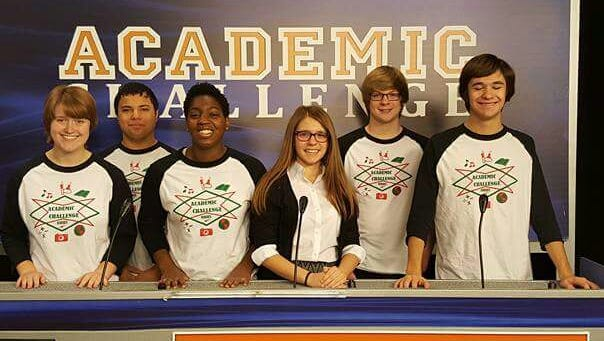 From left, Katelyn Farmer, Chris Gaeth, Jazmyn Jefferson, Morgan Boyer, Aaron Ashley and Dan Bollin.