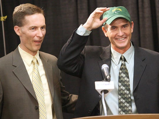 Former Baylor AD Ian McCaw, shown here with ex-coach