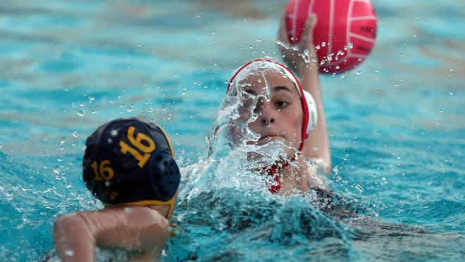 La Quinta and Palm Desert water polo action on Tuesday, February 7, 2017 in La Quinta.