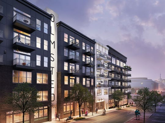 A rendering of Olmsted Nashville, which is rising at