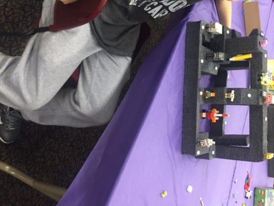 Jose Velasquez of Upper Deerfield displays his Minecraft