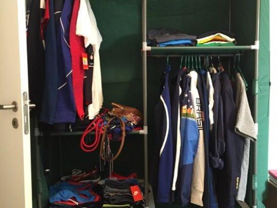 Sandi Morris provides us a photo of her closet from