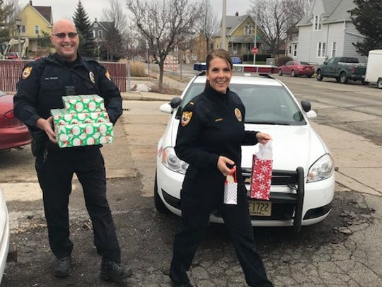 West Allis Police Lt. Jessica Johnson and Corp. Rod