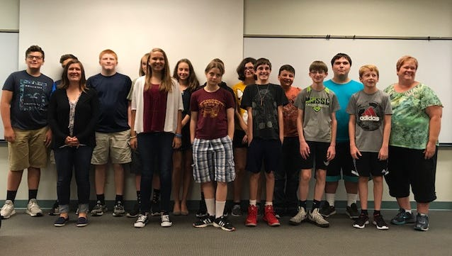 The students who participated in the Engineering and Technology Summer Camp are pictured.