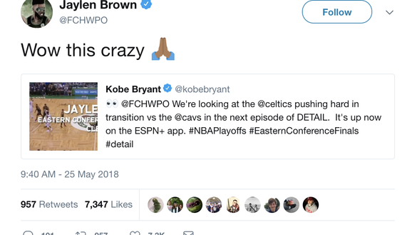 Kobe Bryant explains how Celtics' Jaylen Brown can put pressure on Cavs' defense