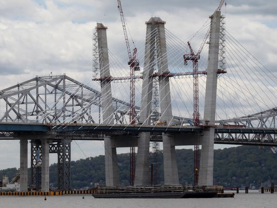 Construction continues on the new Tappan Zee Bridge May 10, 2017.