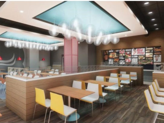 Rendering of interior of Frisch's new Downtown restaurant