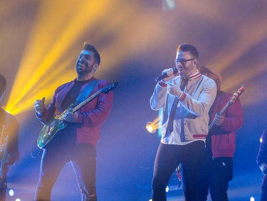 Danny Gokey opens for TobyMac during the last stop