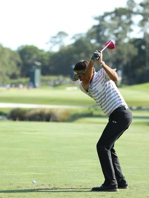 Long drivers like Bubba Watson generate much of their power from their lower body.