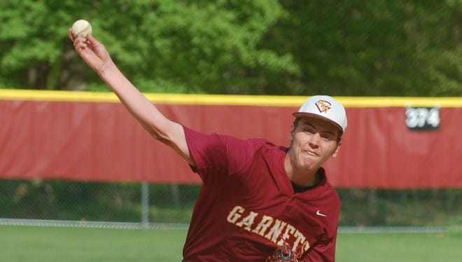 Haddon Heights junior Matt Kennedy delivers a pitch during Tuesday's Colonial Conference matchup against Gateway.