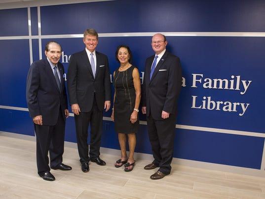 Sam and June Hamra Family Library dedication ceremony