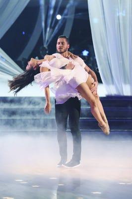 Danica McKellar and Val Chmerkovskiy on last week's