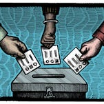 Illustration on voting (by Paul Lachine/Special to the Free Press)
