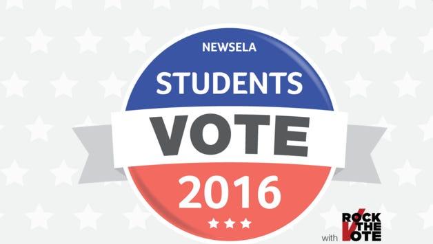 Students Vote 2016 logo